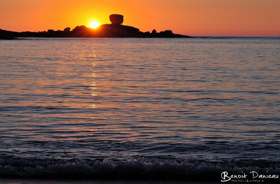 Coucher de soleil à Trégastel