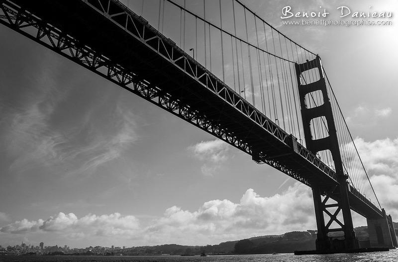 Sous le Golden Gate Bridge