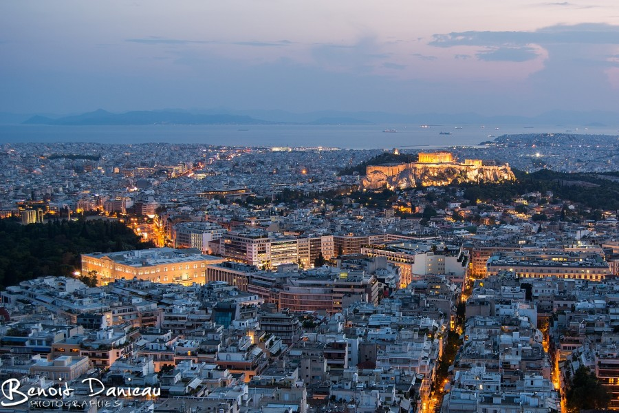 Athènes de nuit