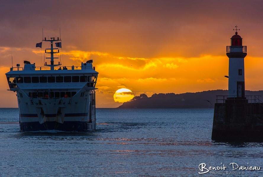 Arrivée du Bangor Belle Ile en Mer