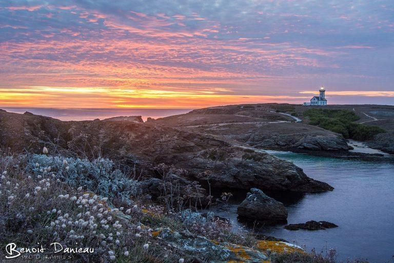 coucher de soleil belle ile en mer