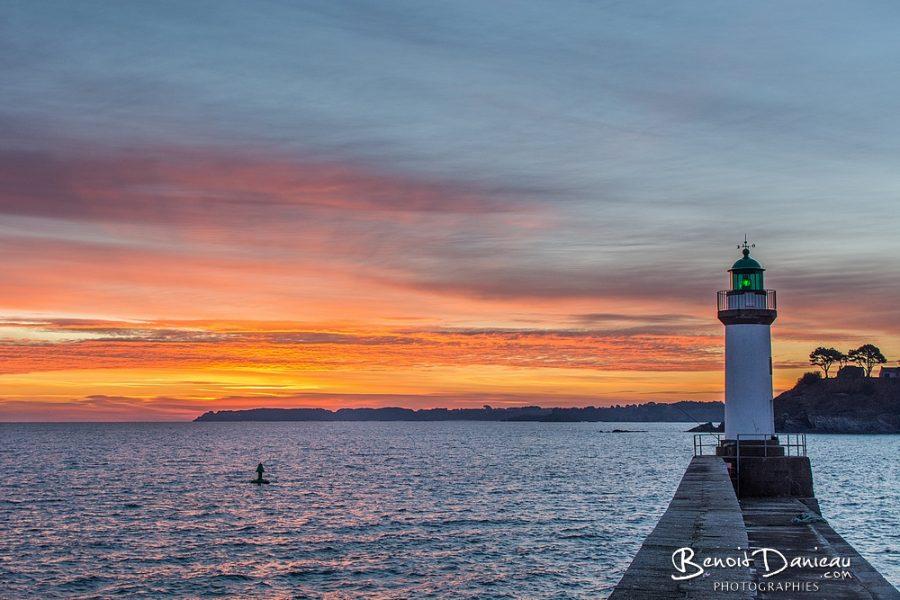 lever de soleil port le palais belle ile en mer