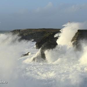 Tempête pointe des Poulains Belle-Île-en-Mer