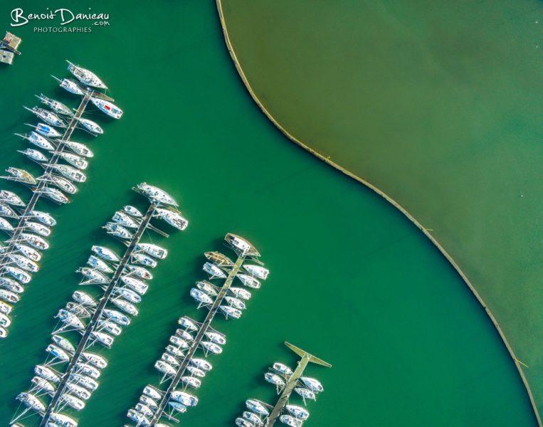 Port de Perros Guirec vu du ciel